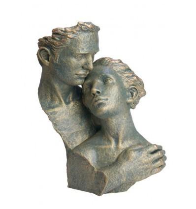 Escultura moderna de pareja DESVELO