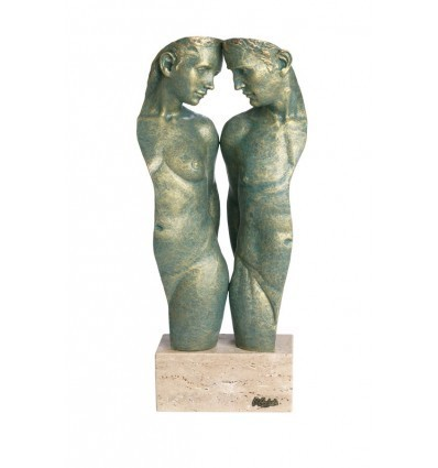Escultura moderna de pareja Fusión