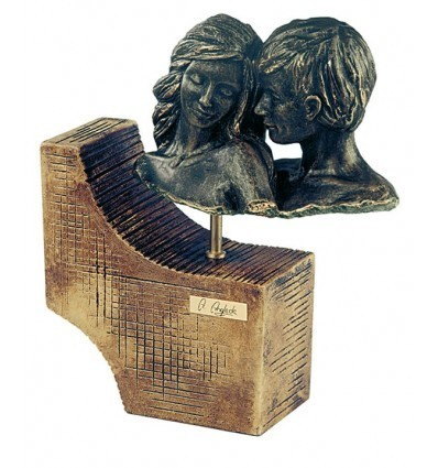 Contemporary couple sculpture Duet handmaded by Spanish artist