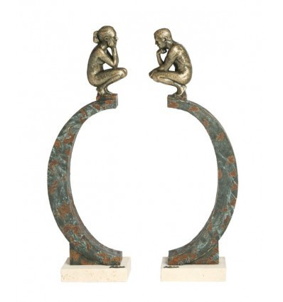 Escultura moderna de pareja Cosmos