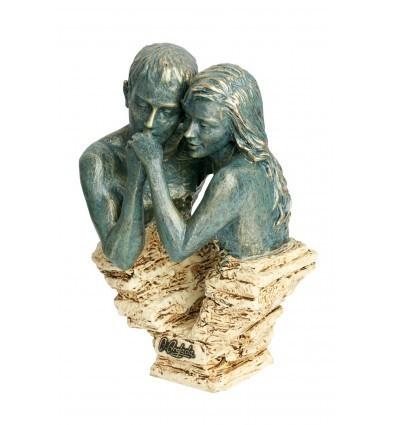 Escultura decorativa de pareja Cortejo