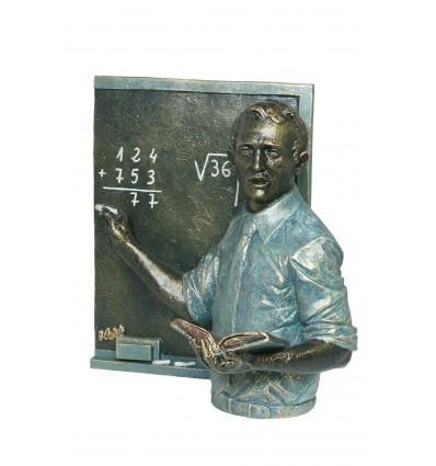 escultura decorativa de profesión PROFESOR CON PIZARRA