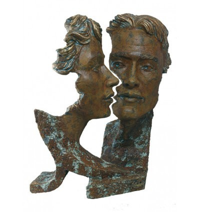 Escultura moderna de pareja SILUETA