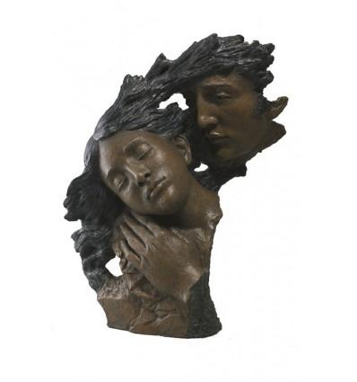 Moderna escultura de pareja CONTEMPLACIÓN