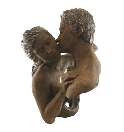 Escultura moderna de pareja Contacto