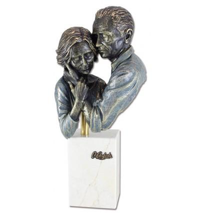 Escultura decorativa de pareja PLENITUD