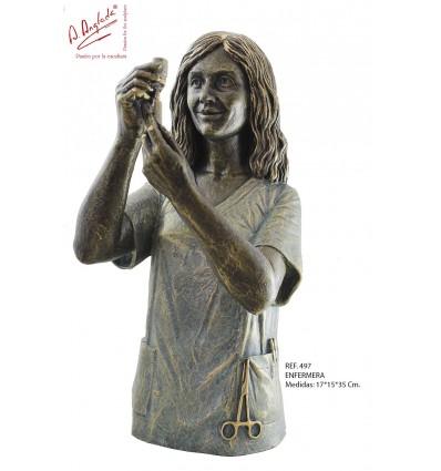 escultura decorativa de profesión ENFERMERA