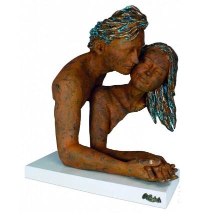Escultura moderna de pareja DELICIA