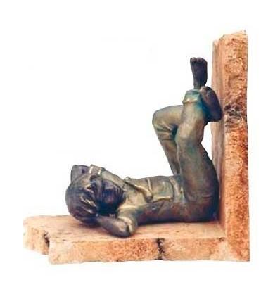 Escultura apoyalibros NIÑO SIESTA