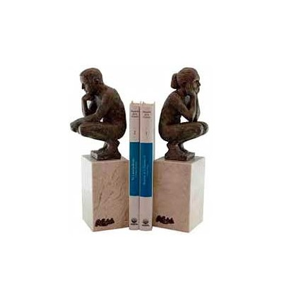 Realistic sculpture Set of bookends boy and girl