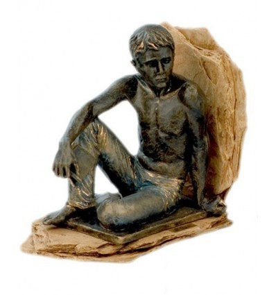 Realistic sculpture Boy Sitting bookend