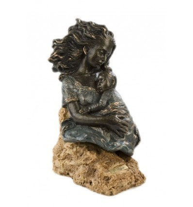 Moderna escultura decorativa DURMIENDO CON MAMÁ
