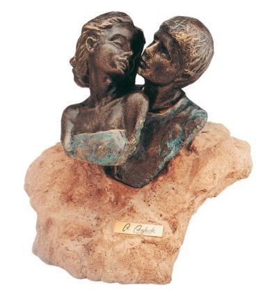 Moderna escultura de pareja PRIMER AMOR