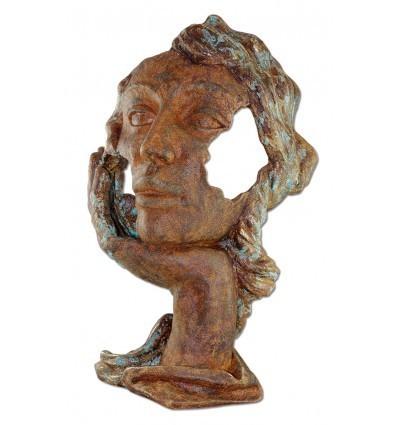 escultura moderna decorativa Rostro