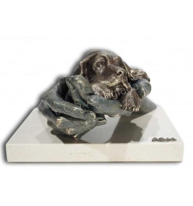 Decorativa escultura de manos MI MEJOR AMIGO