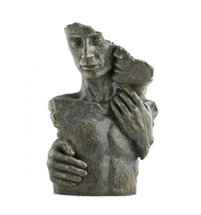 Contemporary couple sculpture Moments by Spanish artist