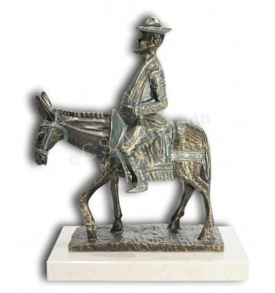 Escultura decorativa SANCHO PANZA EN BURRO