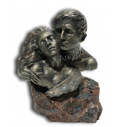 Modern couple sculpture Support broncze finish