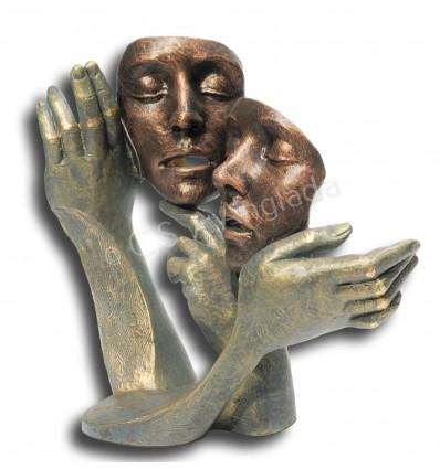 Escultura moderna de pareja Dueto