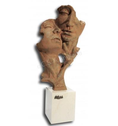 Escultura moderna de pareja Eco
