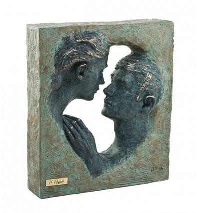 Escultura moderna de pareja ALIENTO