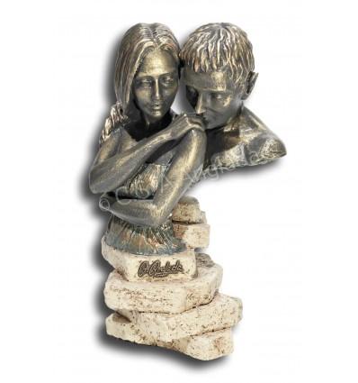 Escultura decorativa de pareja Brevedad