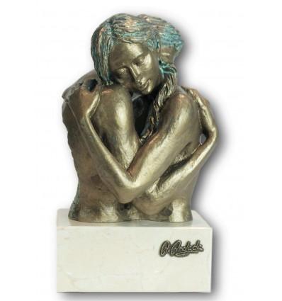 Escultura decorativa de pareja Idilio