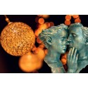Escultura decorativa de pareja INSTANTE