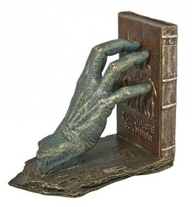 Realistic sculpture Left hand bookend Don Quixote
