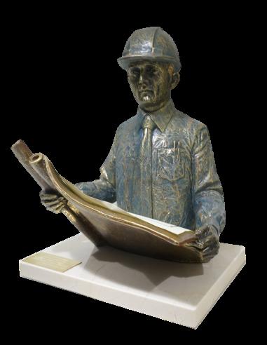 Realistic profession sculpture Engineer, architect, surveyor