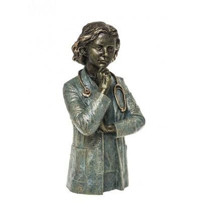 Escultura realista de profesión Doctora de Ángeles Anglada