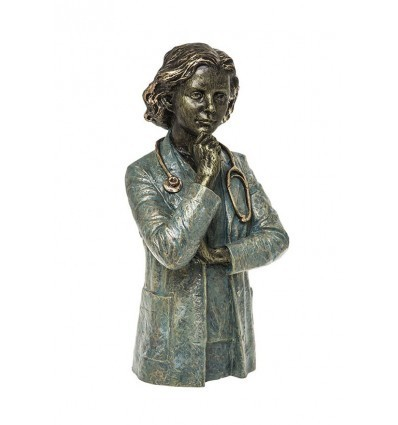 Realistic sculpture Doctor (female) by Angeles Anglada